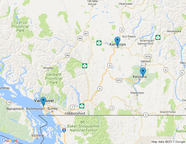 Map of Kamloops – Branch Office