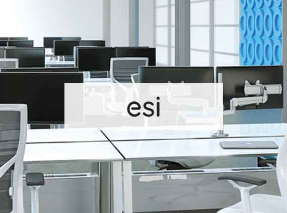 ESI heavy duty monitor arms