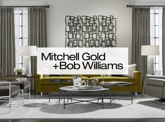 mitchell gold and bob williams living room setting