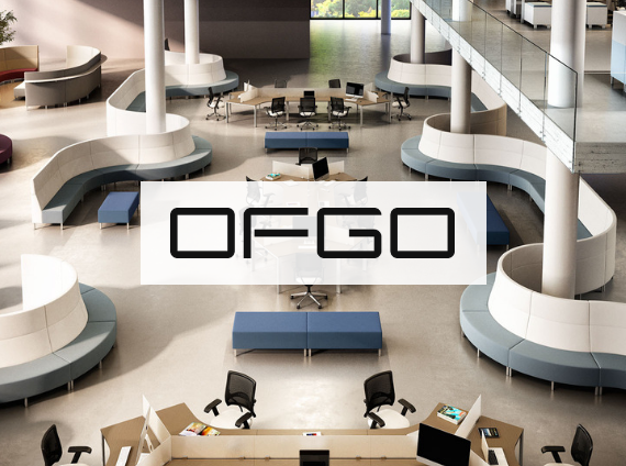 ofgo office setting with modular lounge and workstations