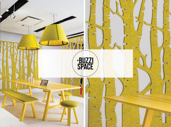 buzzispace acoustical panels and furniture