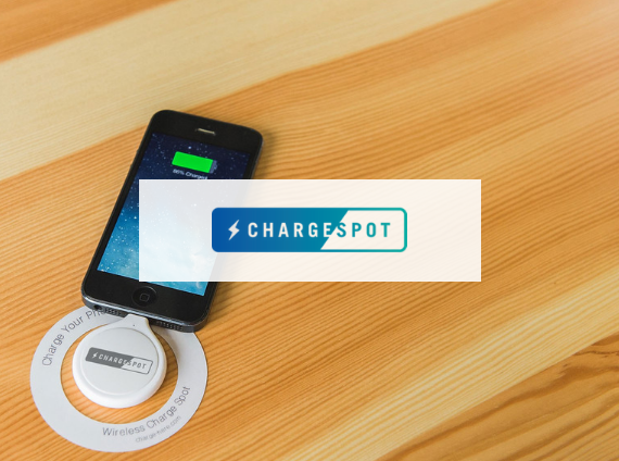 chargespot wireless mobile phone charging station integrated in worksurface