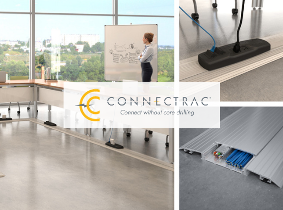 connectrac undercarpet wireway power and data systems