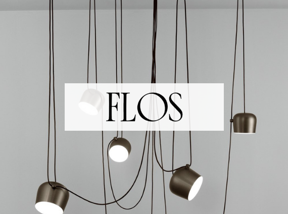 flos lighting fixtures hanging from ceiling