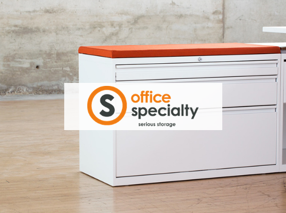 office specialty lateral file with cushion top