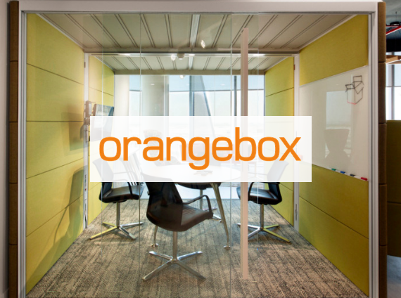orange box office pod mobile meeting space