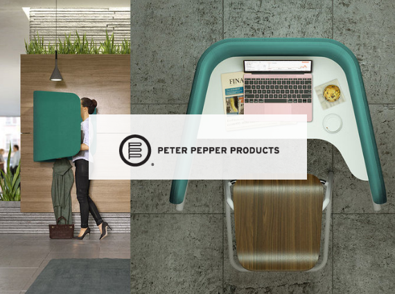 peter pepper desk with partition and office chair
