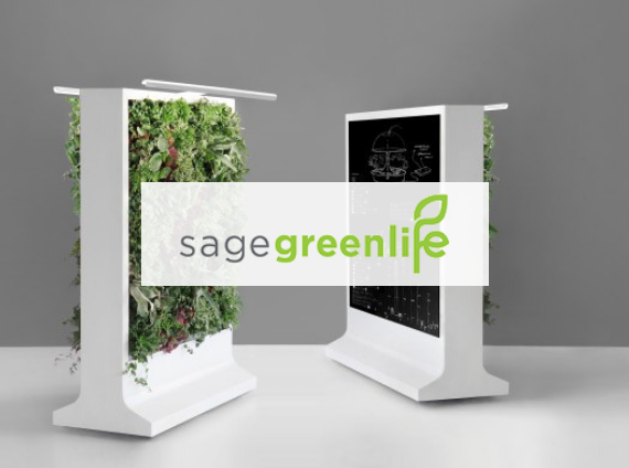 sage greenlife living wall with plants