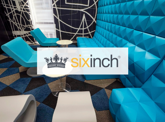 sixinch furniture wall panel and lounge chairs