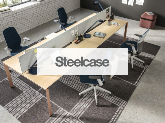 steelcase benching workstation