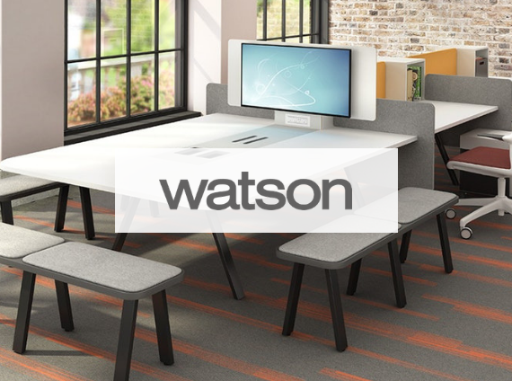 watson media table and benches