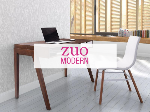 zuo modern home office desk and guest chair